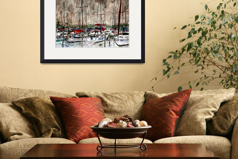 """sail boats sailing boating art print&quot  (2010) by derekmccrea"