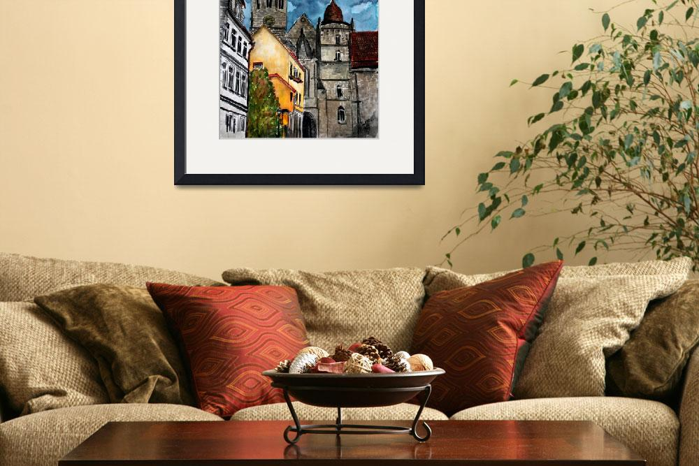 """Coburg Germany Castle Painting&quot  (2009) by derekmccrea"
