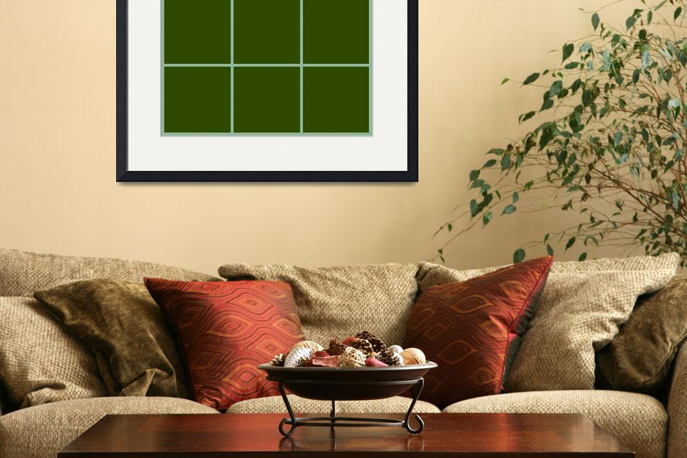 """Green Window 081 Canvas Contemporary Modern&quot  (2010) by Ricardos"