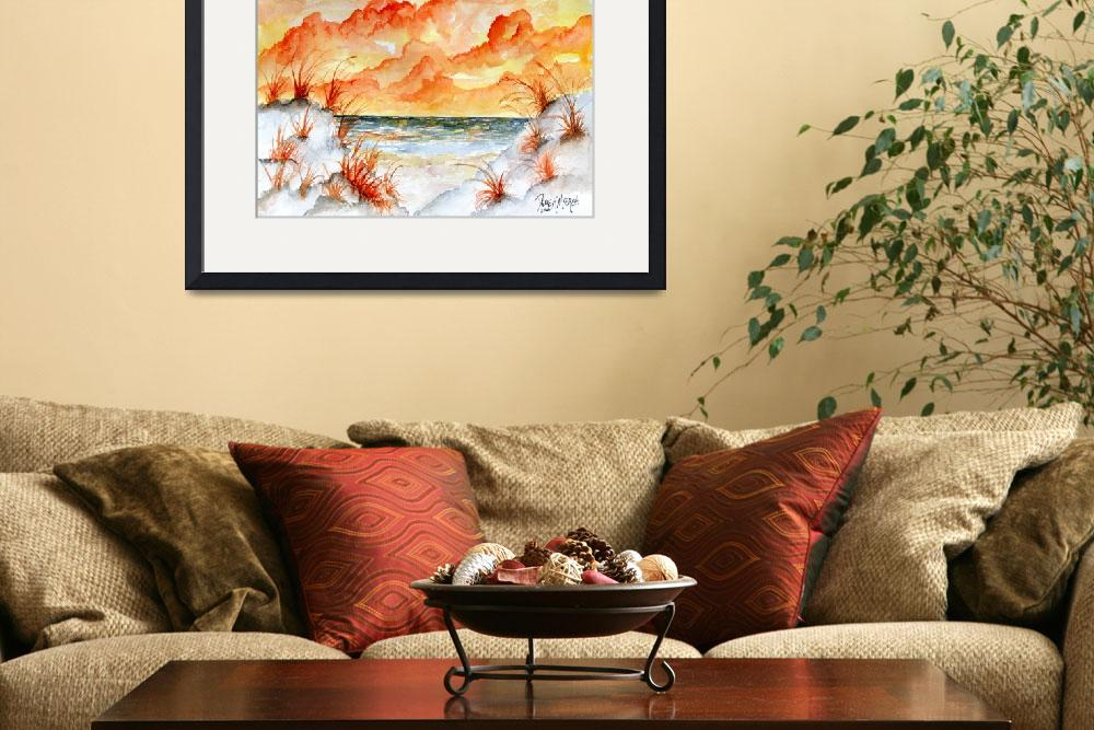 """watercolor beach painting art print&quot  (2010) by derekmccrea"