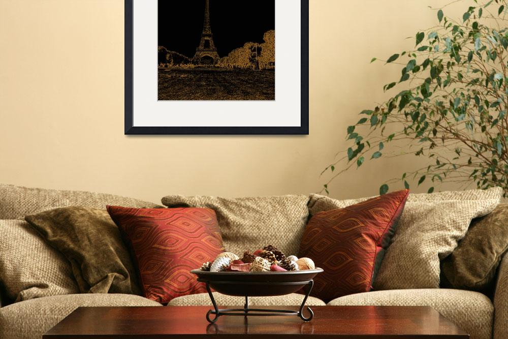 """Eiffel tower nightscape&quot  (2011) by peopleplus"
