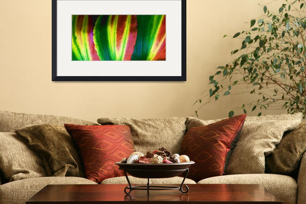 """Colorful Macro Leaf Abstract&quot  (2012) by waynelogan"