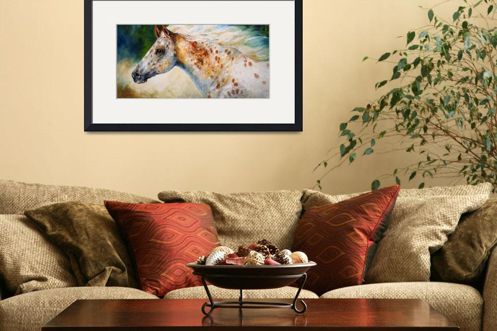 """APPALOOSA SPIRIT M BALDWIN ORIGINAL&quot  (2008) by MBaldwinFineArt2006"