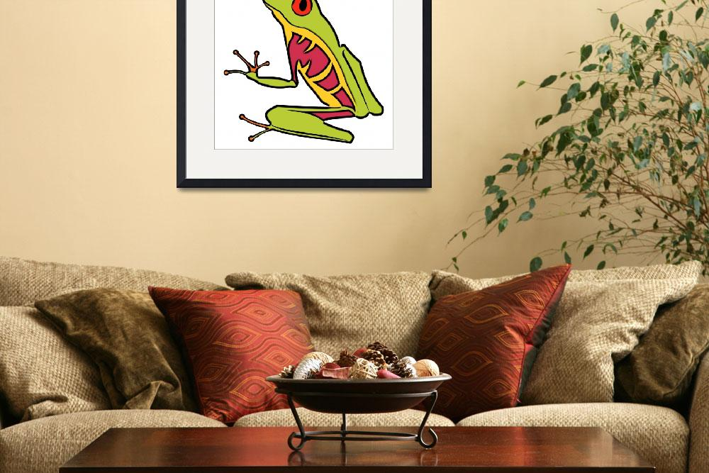 """Red Eyed  Tree Frog&quot  (2010) by maryostudio"