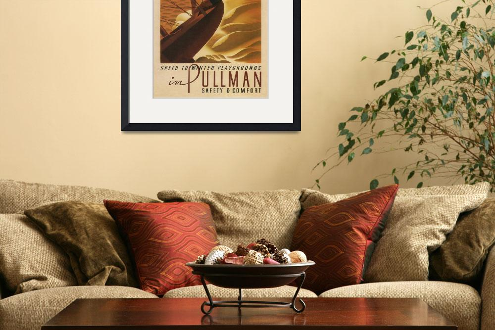 """Vintage poster - Pullman&quot  by mosfunky"