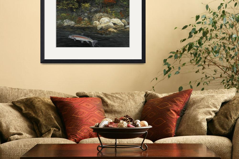 """Fine Art Print Steelhead Run Fishing Fish Art&quot  (2008) by BasleeTroutman"