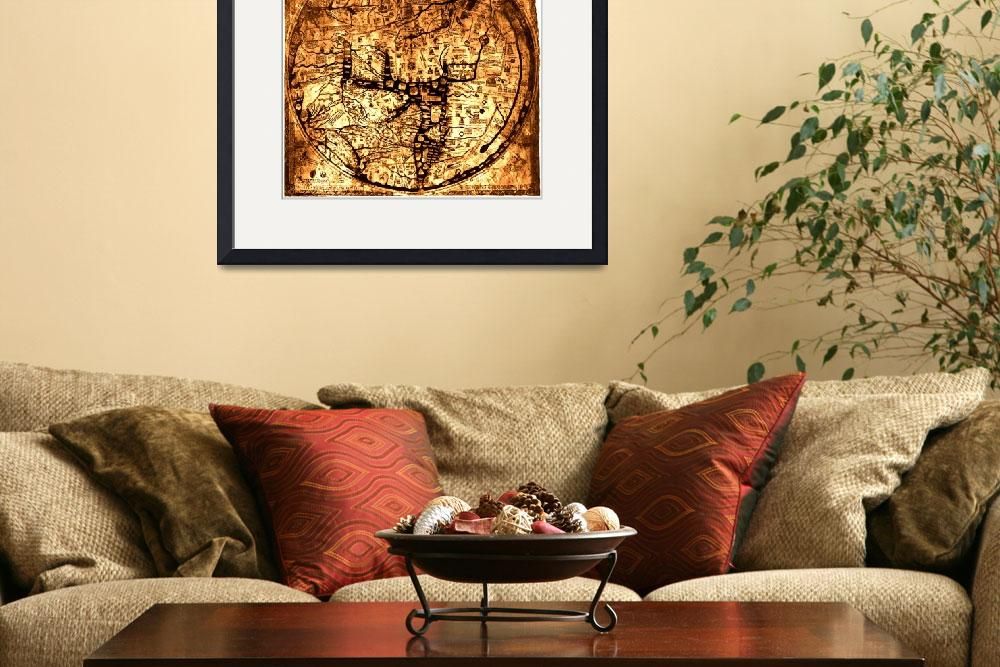 """Hereford Mappa Mundi 1300 Brown & Tan&quot  (2014) by TheNorthernTerritory"