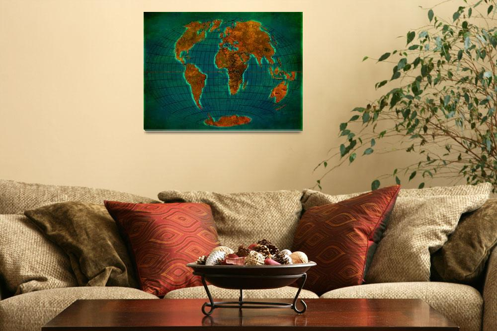 """World Map 1b&quot  (2013) by Marian1"