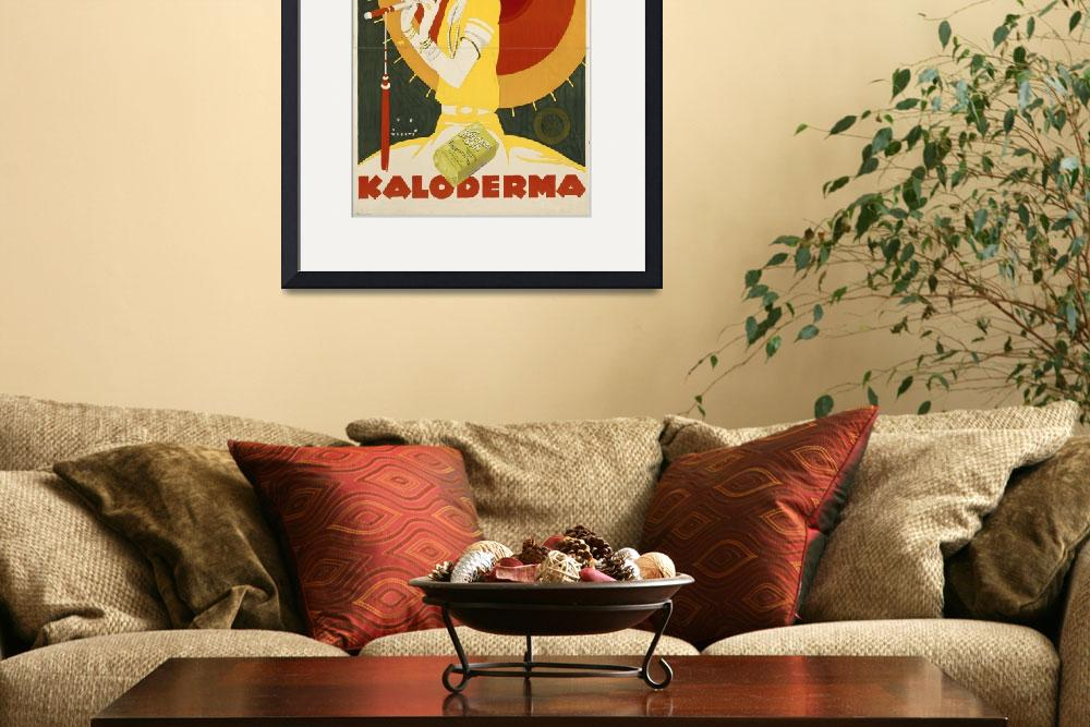 """Kaloderma Soap Vintage Poster Advertisement&quot  by fineartmasters"