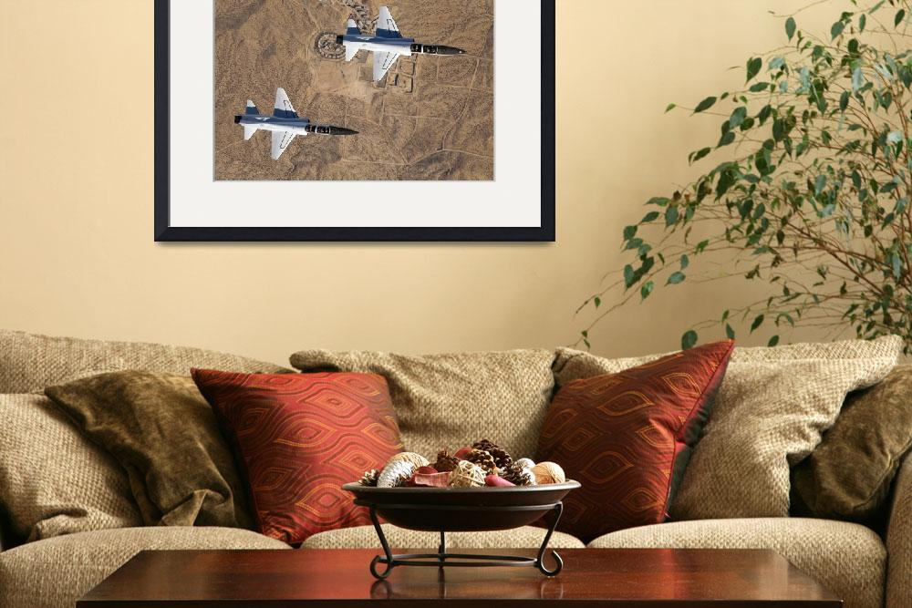 """NASA Drydens two T38A mission support aircraft fly&quot  by stocktrekimages"