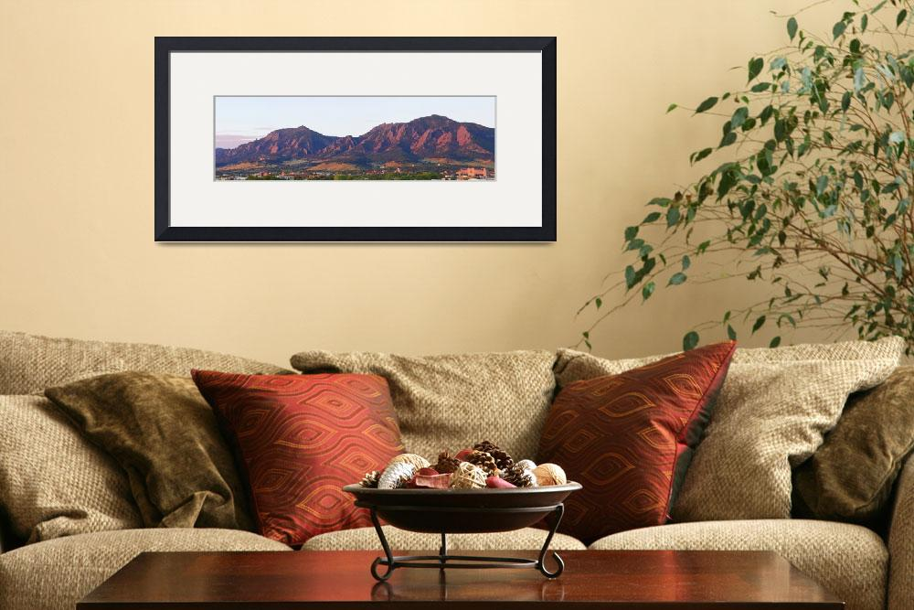 """Boulder Colorado Flatirons 1st Light Panorama&quot  (2011) by lightningman"