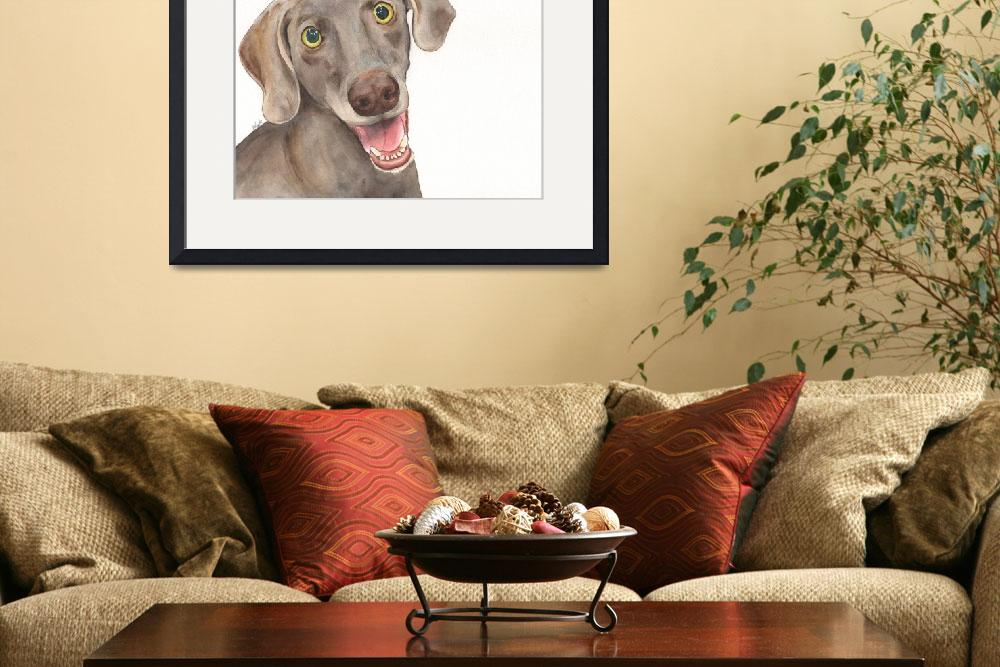 """Barkley the Humorous Hide-&-Seek Hound&quot  (2014) by Designomel"