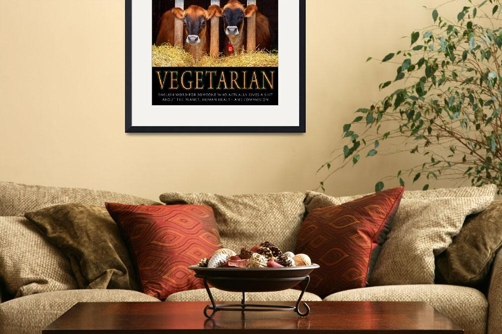 """VEGETARIAN&quot  (2010) by rchristophervest"