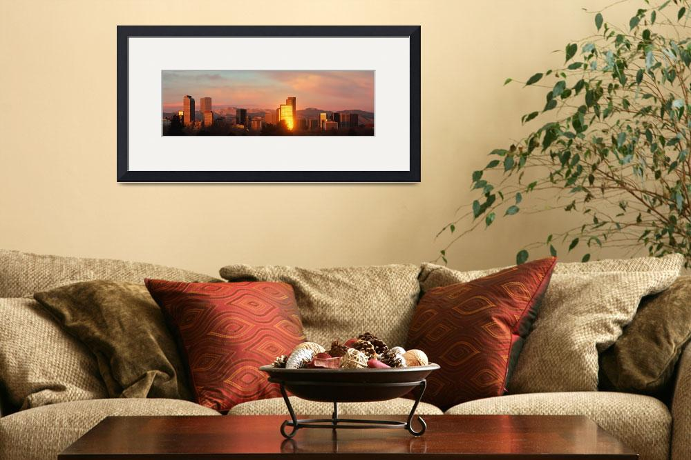 """Denver skyline&quot  by Panoramic_Images"