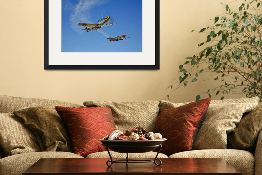 """A P-51D Mustang Kimberly Kaye and a P-40E Warhawk&quot  by stocktrekimages"