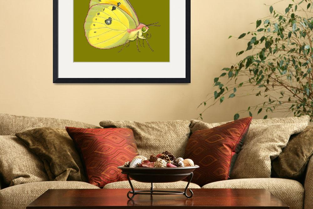 """Sulphur Butterfly&quot  (2013) by KateHalpin"