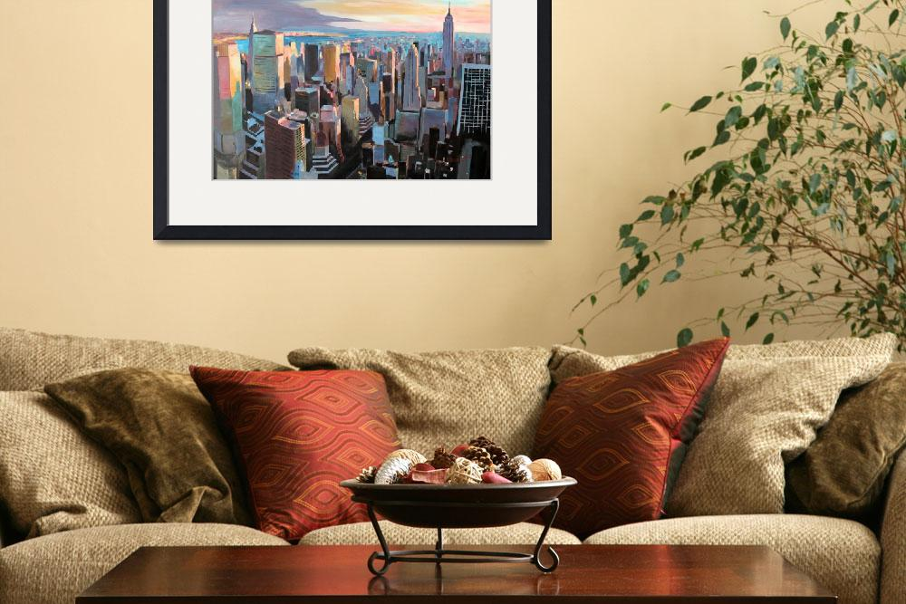 """New York City - Manhattan Skyline In Warm Sunlight&quot  (2013) by arthop77"