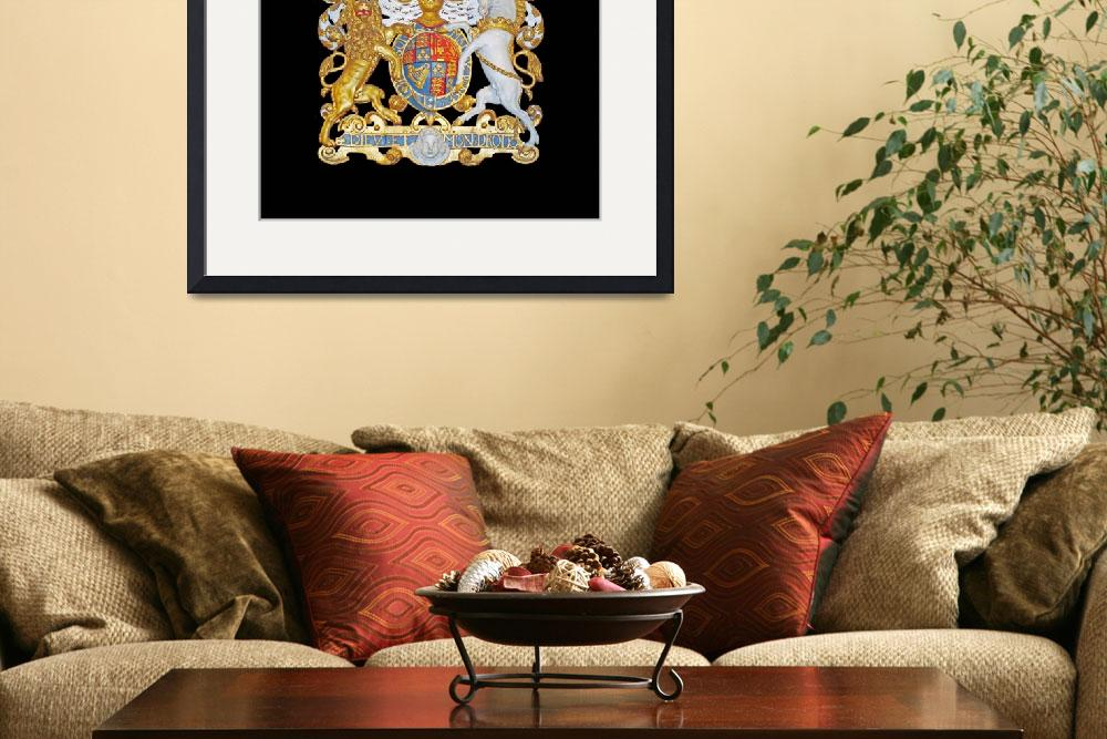 """Royal Coat of Arms , UK.&quot  (2014) by FantaSeaArt"