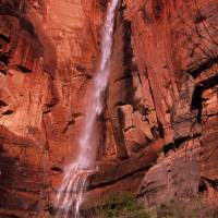 """Zion National Park Waterfall"" by ShutterSpudz"