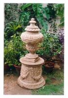 pedestal with cape on a base