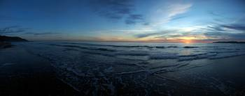 Panorama-Stinson at Sunset