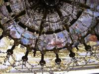 Art through chandelier