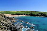 Poldhu Cove in Cornwall, England