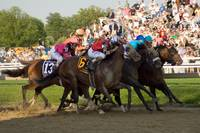 the race for 2nd place in the Preakness