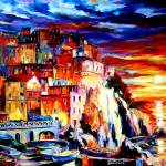 """Manarola Sunset"" by artistdanielwall"