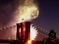 BROOKLYN BRIDGE 125TH ANNIVERSARY FIREWORKS