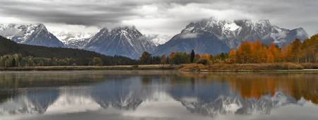 Cloudy day at Oxbow Bend