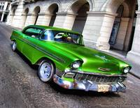 Emerald Green 1956 Chevy 4dr Coupe Classic car