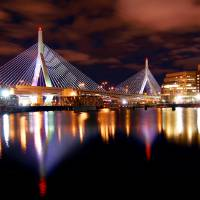"""Zakim Bridge Night time in Boston"" by gmrshots"