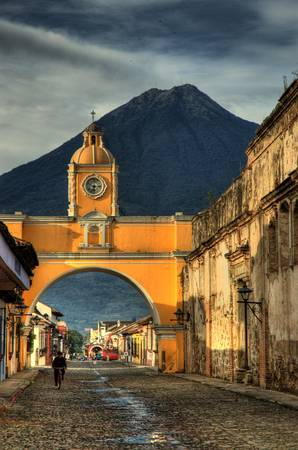 Archway and Volcano Agua