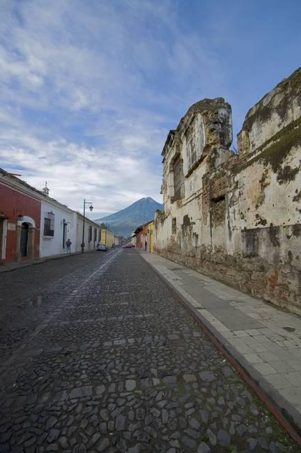 Ruin and Volcano, Antigua Guatemala