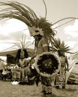 Three Traditional Aztec Dancers from Tlacopan