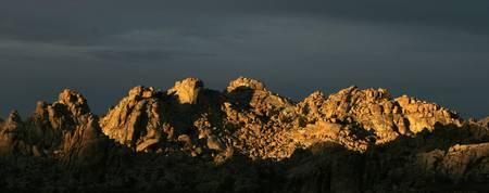 Sunlight on a Desert Rock Range