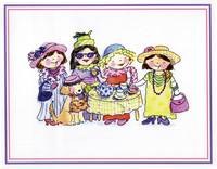 GB268 Dress-up Girls print