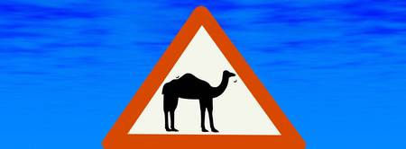 Camel Warning Sign from Oman