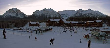 Lake Louise sunset panorama