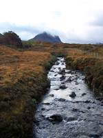 Scottish Stream and Mountain