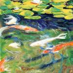 """Riccoboni Art Japanese Koi In the Reflection Pond"" by RDRiccoboni"