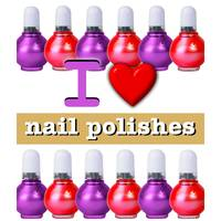 I HEART NAILPOLISHES 10 ON WHITE