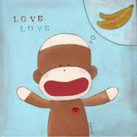 Love  & Bananas ~ Sock Monkey