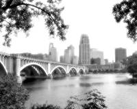 Minneapolis Skyline in B&W