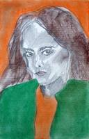 Self Portrait in Orange (study 3)