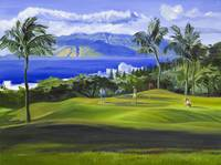 Wailea, Maui, Hawaii Golf Fine Art Giclee Print by Warren Keating