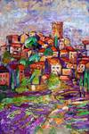 Hillside Village in Provence France and Lavender F