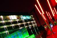 Grand Canal Square by night
