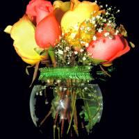 flowers in vase Art Prints & Posters by Bud Obermeyer